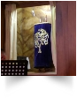 "Our Messianic congregation took our Torah scroll to a Vineyard assembly for a combined worship and as a part of our celebration of Shavuot. The thing is, this assembly worships in the building of a former Jewish synagogue. Synagogues keep an ""eternal light"" called a Ner Tamid on their Torah scrolls."